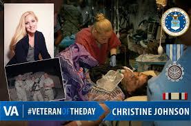 VeteranOfTheDay is Air Force Veteran Christine Johnson - VAntage Point