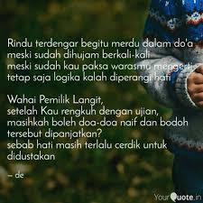 rindu terdengar begitu me quotes writings by desra e