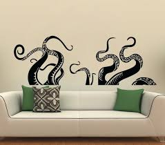 Octopus Wall Decal Kraken Wall Decal Ocean Monster Climbing Etsy
