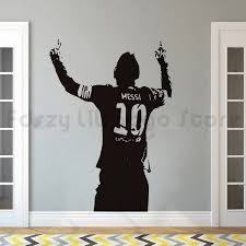 Messi Soccer Football Star Wall Sticker Home Boys Room Decor Messi Silhouette Vinyl Wall Decal Football Lover Wall Poster Q450 Wall Stickers Aliexpress