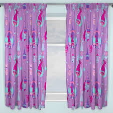 Trolls Curtains 66 034 X 72 034 Childrens Bedroom Curtains Purple Poppy Official New