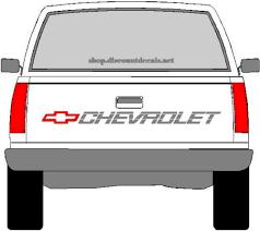 2 X Chevrolet Sport Truck Bedside Decals Chevy