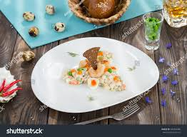 Seafood Salad Mayonnaise Red Caviar ...