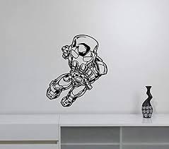 Amazon Com Iron Man Wall Decal Vinyl Sticker Tony Stark Marvel Comics Superhero Art Decorations For Home Kids Boys Room Bedroom Decor Irm4 Home Kitchen