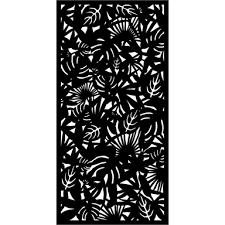 Matrix 2410 X 1205mm Charcoal Rainforest Screen Panel With Frame