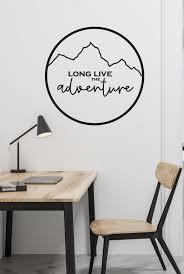 Vinyl Wall Art Decal Long Live The Adventure Mobile Home Camper Trailer Van Travel Traveling Bus Romantic Adventurers Travelers Wander