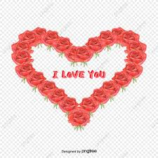 red rose romance i heart love you