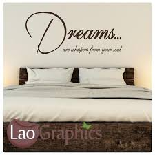 dreams are whispers vinyl quote wall stickers home decor art