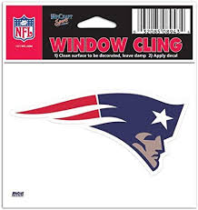 Amazon Com New England Patriots Nfl 3x3 Static Window Cling Decal Sports Fan Automotive Decals Sports Outdoors