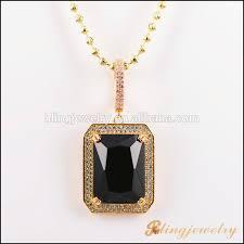 18k gold jewelry hip hop big stone