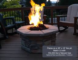 36 octagon custom stone gas fire pit
