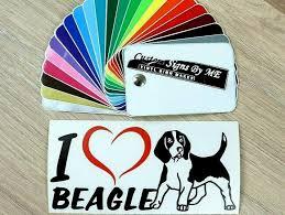 I Love Beagle Wall Car Dog Sticker Vinyl Decal Adhesive Window Bumper Tailgate B Ebay