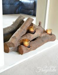 easy diy faux fireplace insert with