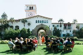 santa barbara courthouse garden wedding