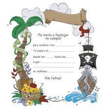 Invitacion Pirata Invitaciones Piratas Fiesta De Piratas