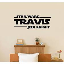 Large Star Wars Jedi Knight Master Personalized Kids Boys Room Home Nursery Wall Decal C Star Wars Wall Sticker Star Wars Nursery Decor Nursery Wall Decals Boy