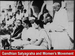 Gandhian Satyagraha and Women's Movement at Delhi - Events High