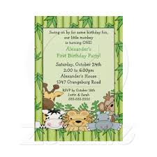 Fun Safari 1st Birthday Invitation Zazzle Com Invitaciones