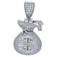 cz money bag fashion pendant charm