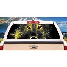 Neon Wolf Rear Window Graphic Truck View Thru Vinyl Decal Back Walmart Com Walmart Com
