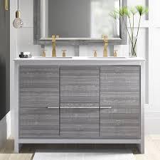 bosley 48 double bathroom vanity set