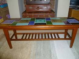 vintage retro tile top coffee table
