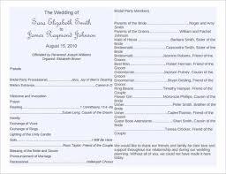 72 wedding program template free