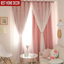 Hollow Star Sheer Curtain Window Curtains For Girl Kids Bedroom Treatments Blackout Curtains For Living Room Home Valance Decor Buy At The Price Of 15 23 In Aliexpress Com Imall Com