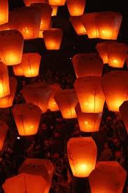 beautiful sky lantern festival warm