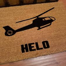 helo doormat custom door mat