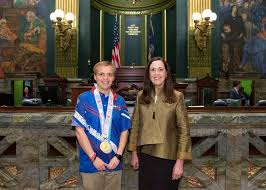 Special Olympian Aaron Keller honored at state capitol | Community |  citizensvoice.com