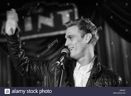 Singer Aaron Carter performing live at ...
