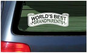 World S Best Grandparents Window Car Decal Vinyl Sticker Grandma Grandpa Fun For Sale Online Ebay