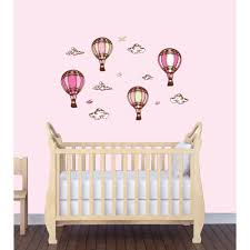 Mini Hot Air Balloon Wall Decals For Little Girls Rooms
