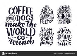 vector illustration funny phrases hand drawn inspirational quotes