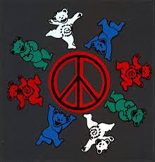 Grateful Dead Car Window Tour Sticker Decal Grateful Dead Bears Dancing Around A Peace Sign