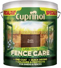 Cuprinol Less Mess Fence Care 6l Rustic Brown 445660 By Cuprinol Amazon Co Uk Diy Tools