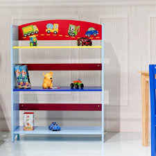 3 Tier Kids Adorable Corner Cars Book Bookshelf Environmentally Friendly Paint Attractive Pattern Suitable Height Shelves Aliexpress
