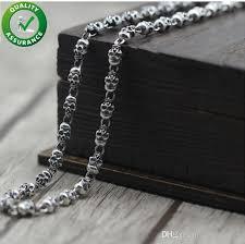 2020 mens silver chain necklace hip hop