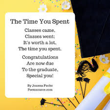 graduation poems they ll always remember you cared