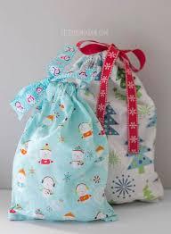 easy 3 seam drawstring gift bag