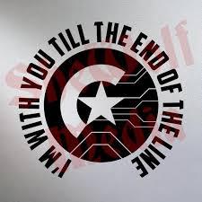 Captain America Winter Soldier Inspired Vinyl Sticker Decal Etsy