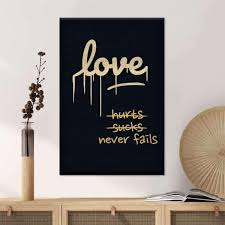 Love Never Fails Canvas Wall Art Elephantstock
