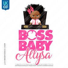 Boss Baby Iron On Transfer African American Girl Briefcase Luvibeekidsco