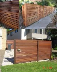 Construction Detail Q Re A Rw Fence W Horizontal Boards Slats Patio Fence Backyard Fences Fence Design