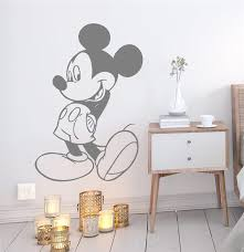 Disney Mickey Mouse Wall Stickers For Kids Rooms Home Decor Accessories Cartoon Wall Decals Vinyl Mural Art Diy Wallpaper Wall Stickers Aliexpress