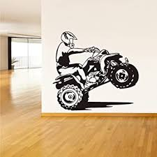 Amazon Com Stickersforlife Atv Quad Bike Wall Decal 4 Wheeler Off Road Wall Sticker 4x4 Atv Wall Decal Decor 4 Wheeler Kids Bedroom Wall Decor Art Atv Mural Z1499 Home Kitchen