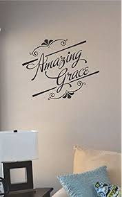 Amazon Com Js Artworks Amazing Grace Vinyl Wall Art Decal Sticker Home Kitchen