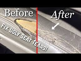 how to repair leather car seat tears