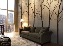 Vinyl Wall Decal Sticker Art Winter Trees Set Of 6 Trees Etsy Tree Wall Decal Living Room Home Decor Brown Wall Stickers